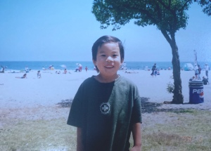 Kubota as a young kid at Topanga Beach.